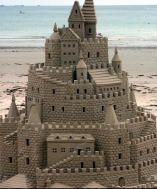high detailed sandcastle