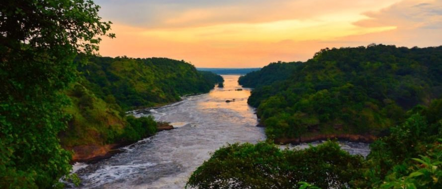 image of the Nile river at sunset