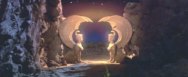 image of the first gate of the southern oracle from the never ending story mivie